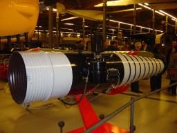 Reproducció del pulsoreactor que s'exhibeix al MNACTEC a Terrassa.