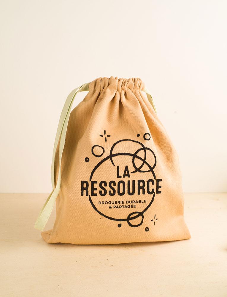 La ressource sac vrac recycle pièces orange local naturel bio belgique Zero déchet