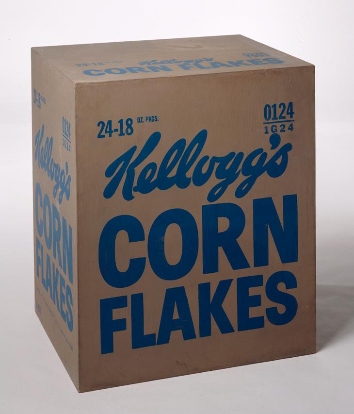 Not Warhol (Kellogg's Corn-Flakes Box), 2013