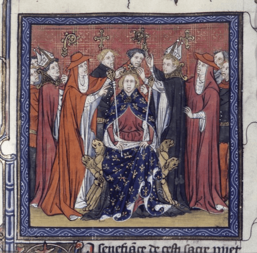 couronnement d'un roi