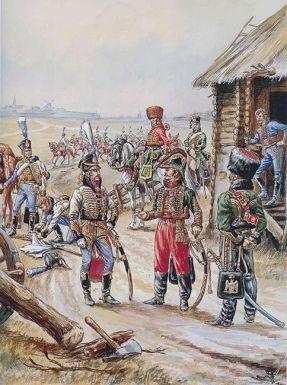 6-lasalle-avec-ses-officiers-en-prusse-en-1806-source-aquarelle-de-jack-girbal-collection-de-lauteur