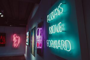 Neon sign - alway move forward