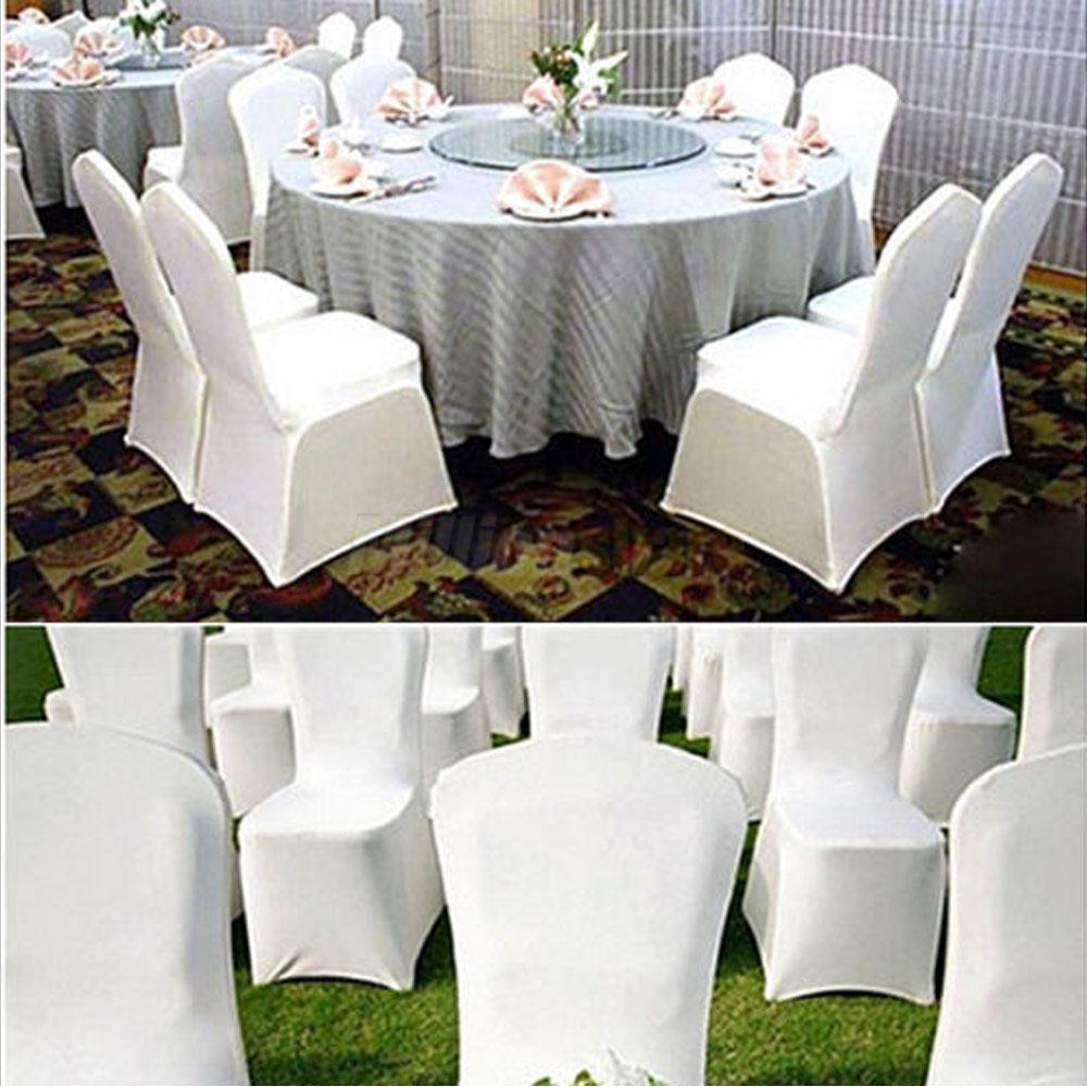 black spandex chair covers for sale ostrich 3n1 beach white new polyester cover arched flat front 50 100pcs