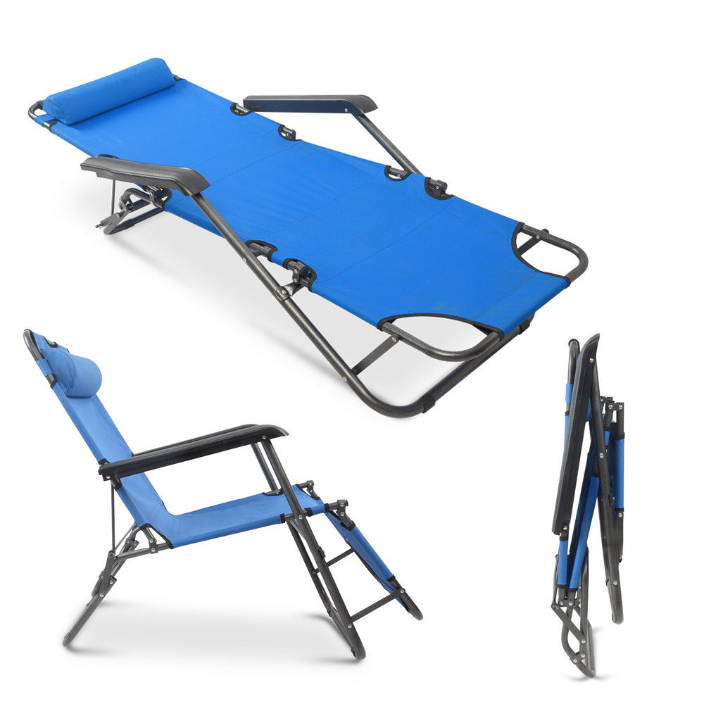 Folding Sleeping Chair New Portable Military Folding Camping Bed Sleeping Hiking Guest