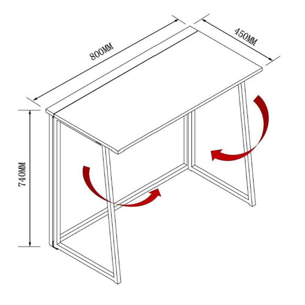 Modern Folding Computer Desk Home Office Study PC Writing