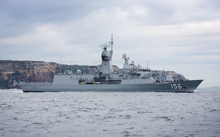 Chinese warships with 700 sailors stopover at Sydney Harbor in Australia