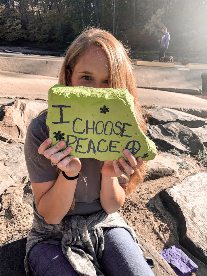 Tyler state park with peace rock