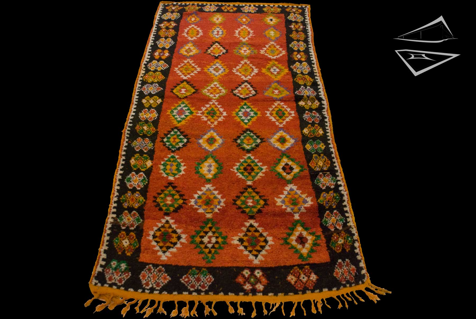 Tribal Moroccan Rug Runner 4 x 9