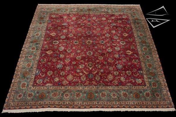 Square Persian Rug Tabriz