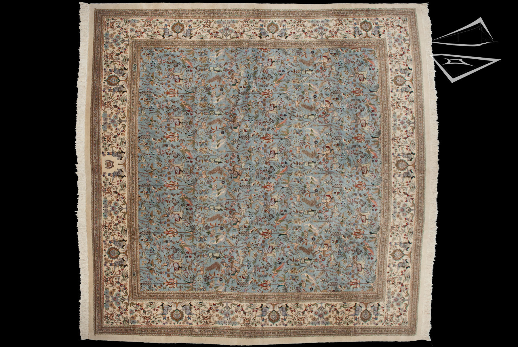 Square Persian Cyrus Crown® Tabriz Rug 12' X 12