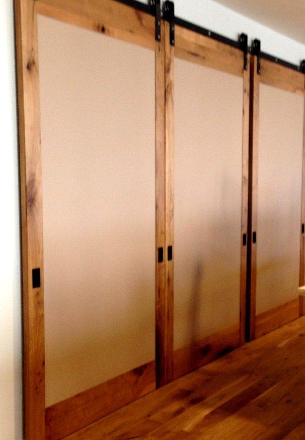Sliding Barn Doors as Room Divider