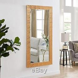 full length mirror in living room contemporary table large leaning floor wall mount copper gold frame bedroom new