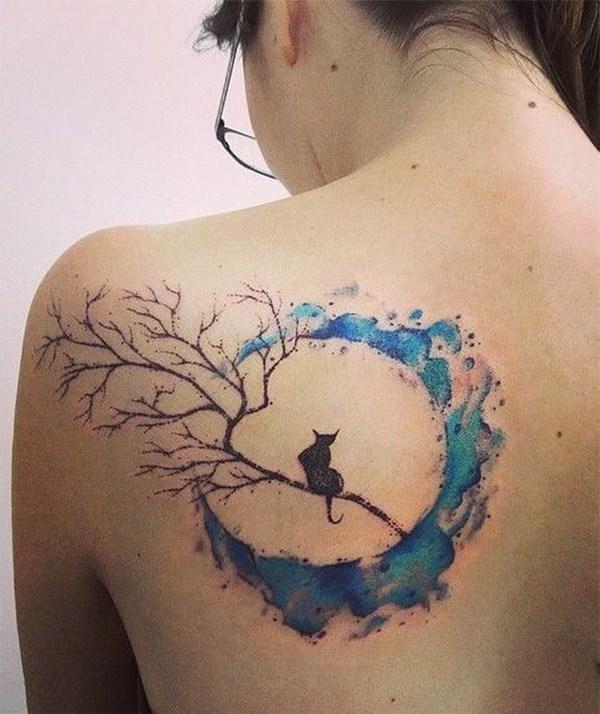 60 Impresionantes Diseños De Tatuajes De Acuarela Largo Peinados