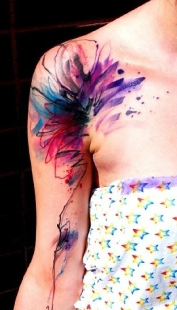 45 Cool Shoulder Tattoo Designs Largo Peinados