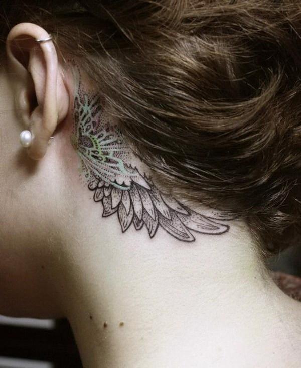 70 Tatuajes Bonitos Detrás De La Oreja Largo Peinados