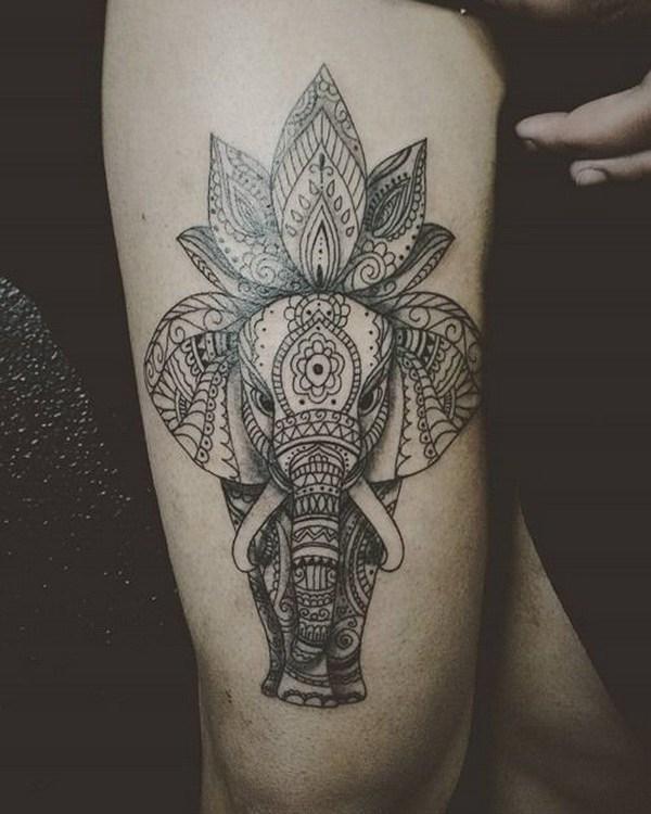 55 Diseños Bonitos Del Tatuaje De Lotus Largo Peinados