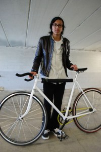 Adrian Cortez, 18, undeclared, restored and converted a road bike into a fixie.