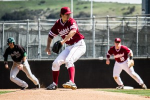 Photo by: Matt Corkill Sophomore starter Anthony Shew pitched a complete game allowing only two earned runs in the Saddleback loss to Golden West, 2-1, on Thursday at Doug Fritz field.