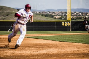 Photo by: Matt Corkill Sophomore Mitchell Holland went 3-4 in Saddleback's victory over Riverside, 7-2, Thursday.