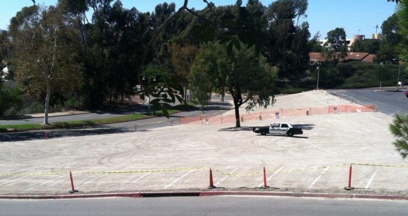 Campus police patrol overflow parking spaces added to Lot 10 to ensure student safety.