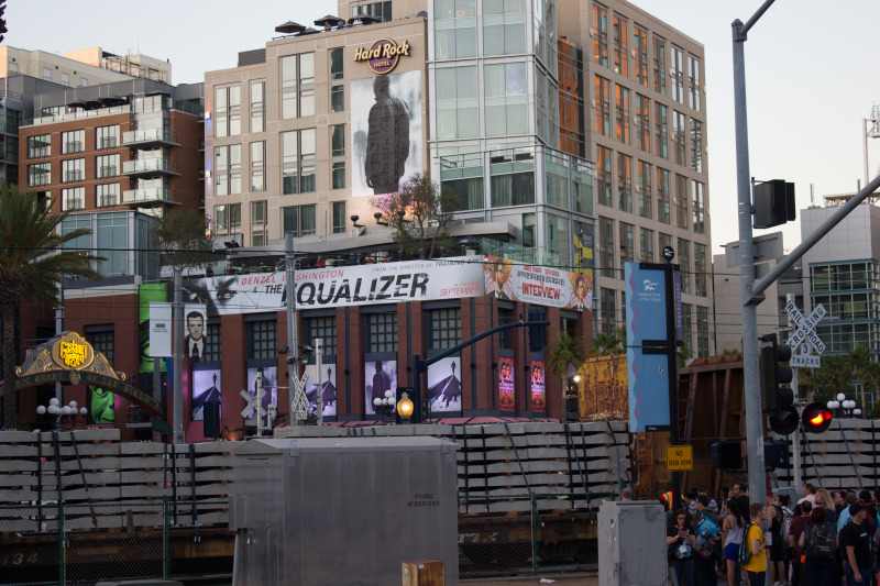Showtime: The Equalizer premiered at the Gaslamp District in San Diego on September 26,2014. (Creative Commons, photographer: vagueonthehow)