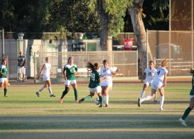 Saddleback College women's soccer team play takes lost 1-0 captain,No.10, Krista Flores, sophomore, midfielder, focus is to get team a motivated effort against Golden West College as No.19,