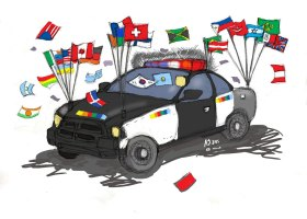 This illustration shows an example of the new diversified police force vehicles. (Illustration by Anibal Santos)