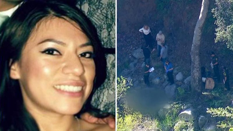 Erica Alonso's (left) decomposed body recovered in a remote area off of Ortega Highway. (abc7.com)