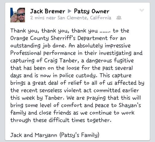 The owners of Patsy's Irish Pub posted this thank you on their Facebook Page today.