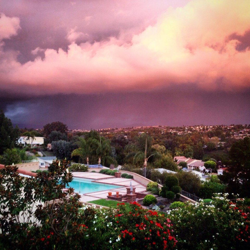 Crazy looking weather in Mission Biejo and