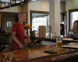 A demanding customer take out her anger and frustration on the bartender. (Jordan Rangel)