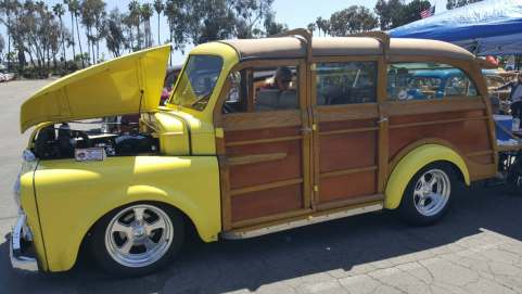 Paula Parsons enjoys driving her rare 1949 Dodge Woodie. (Angel Grady/Lariat)
