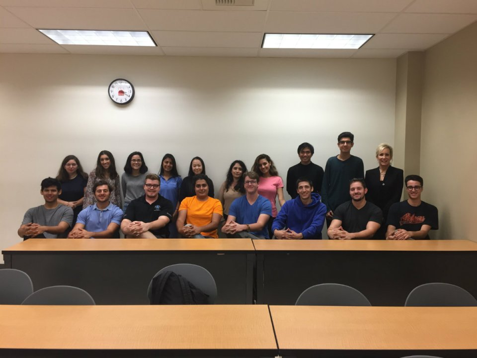 The 'Pre Law Society' club gets together on a Wednesday to discuss future plans as well as organize trips to jails and colleges. (Mackenzie Quinn)