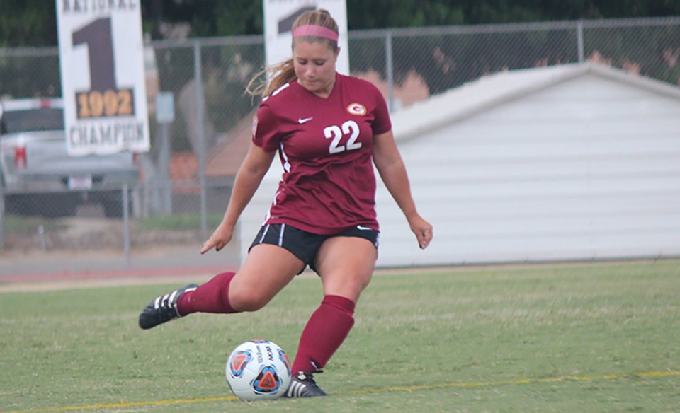Sophomore defender Breanna Taboada (Saddleback College Athletics)