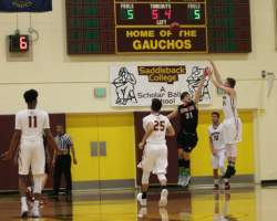 Jake Hawes led the Gauchos with 18 points off the bench, shooting (6-11) from downtown. (Courtesy of Colin Reef)