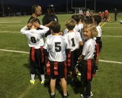 San Clemente's flag football team about to compete. Courtesy of Ettara Thomas.