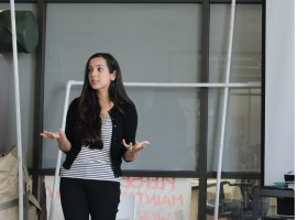 Sidhra Vakil gave a presentation about depression and anxiety on Tuesday. (DJ McAllister/lariat)
