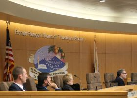 Board of Trustees pay attention to Public Comments Members (Joseph Fleming/Lariat)