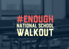 A infographic on the Women's March Youth Empower's website for the #Enough! National School Walkout event. (screenshot / Women's March Youth Empower)