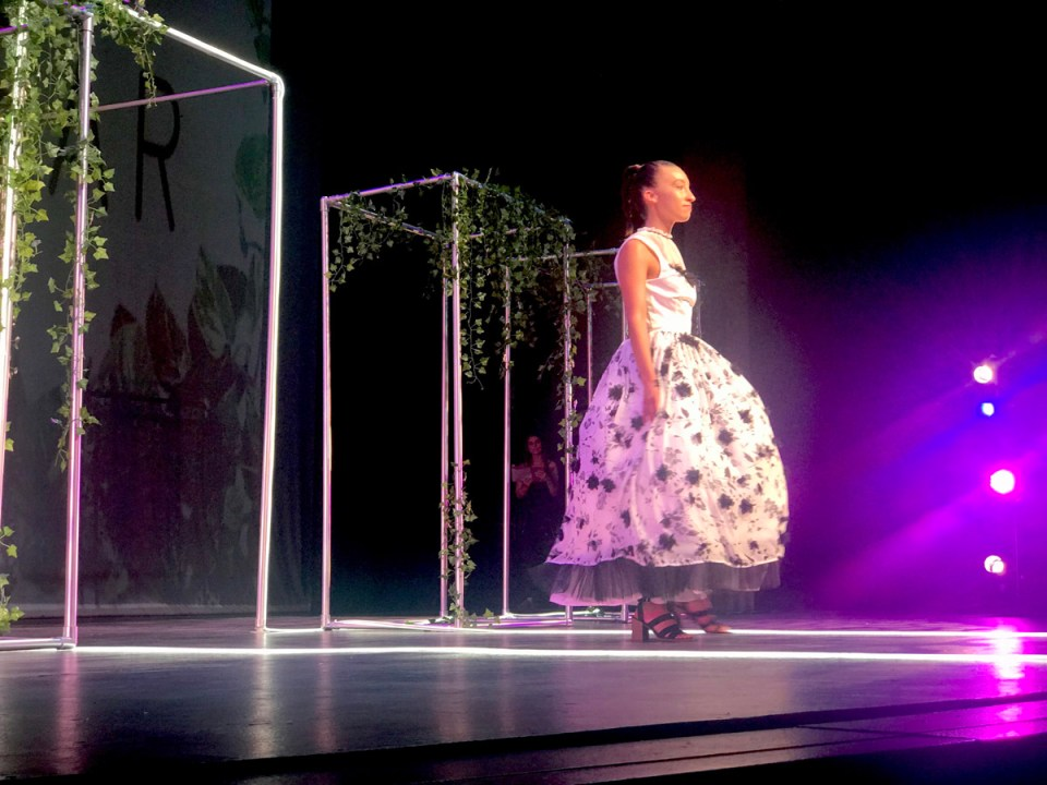 Designer Emily Green's dress took second place in the Evening Wear category. (Holly Broxterman/Lariat)