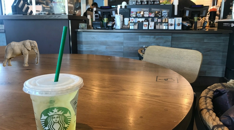 Starbucks seeking to eliminate the elephant in their coffee shops with training on May 30. (Andrea Clemett/ Lariat)