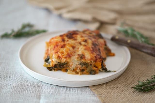 Le lasagne emiliane cotte al forno