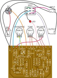 Maxon OD808 Overdrive Pedal PCB Layout | Larik Labs