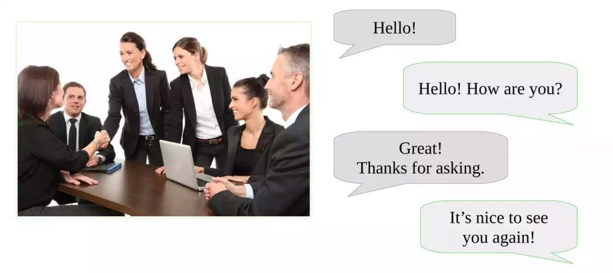 Conversation Practice and Hello in English