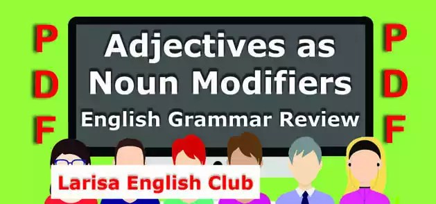 Adjectives as Noun Modifiers PDF