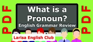What is a Pronoun Grammar Review PDF