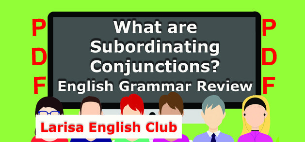 What are Subordinating Conjunctions PDF