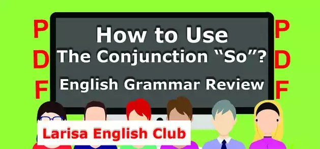 How to Use The Conjunction So PDF