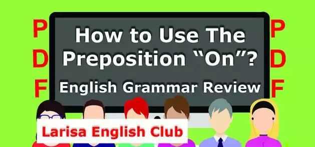How to Use The Preposition_On PDF