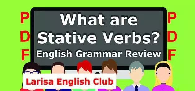 What are Stative Verbs PDF